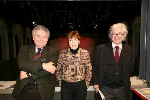 Bruno Borghi, Marina Bertiglia e Agostino Magnaghi nella sala del Teatro Astra
