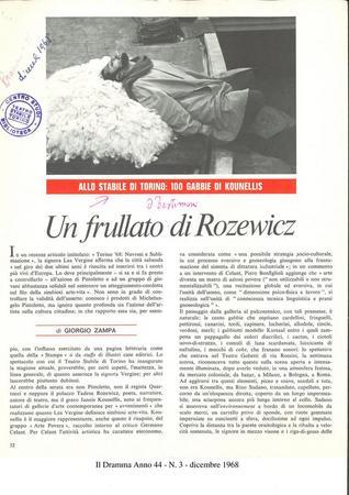 Il Dramma Anno 44 - N. 3 - dicembre 1968 (da busta archivio de Il Dramma), p. 1