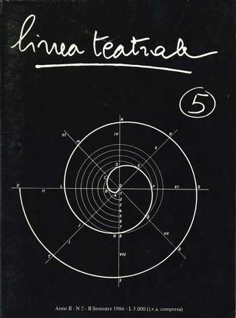 Linea teatrale, n. 5 (settembre 1986) - Copertina