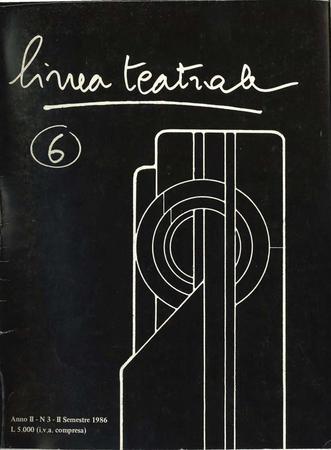 Linea teatrale, n. 6 (dicembre 1986) - Copertina