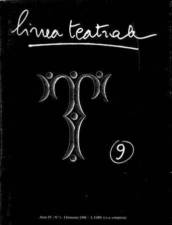Linea teatrale, n. 9 (giugno 1988) - Copertina