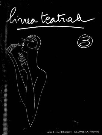 Linea teatrale, n. 3 (dicembre 1985) - Copertina