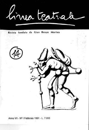 Linea teatrale, n. 14 (febbraio 1991) - Copertina