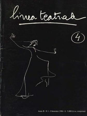 Linea teatrale, n. 4 (giugno 1986) - Copertina