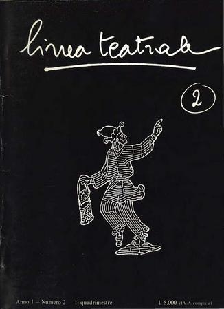 Linea teatrale, n. 2 (maggio 1985)- Copertina