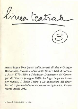 Linea teatrale, n. 3 (febbraio 1982) - Copertina