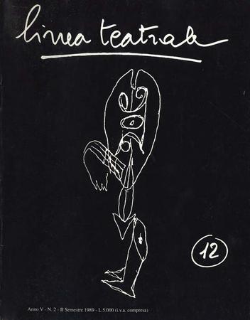 Linea teatrale, n. 12 (dicembre 1989) - Copertina