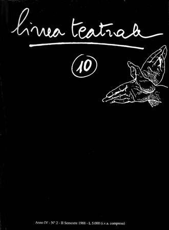 Linea teatrale, n. 10 (dicembre 1988) - Copertina